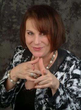 Kathleen pointing
